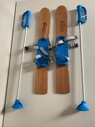 Esquís para niños 2-3-4 años/ Umeentzako eskiak
