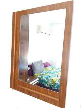Espejo de madera para colgar
