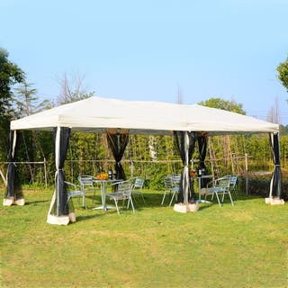 Carpa 6x3m Plegable Gazebo para Jardín Cenador con