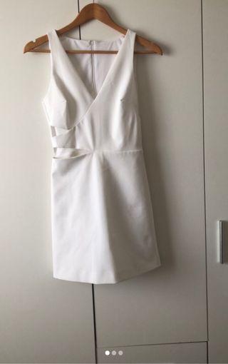 Mono falda -pantalón blanco