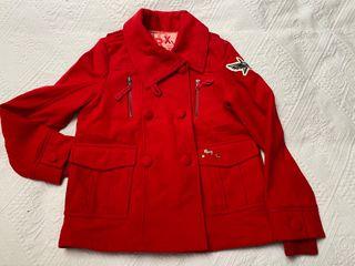 Chaquetón rojo de lana Roxy