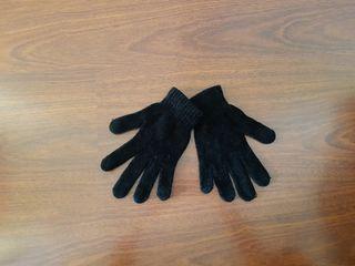 guantes chenilla color negro