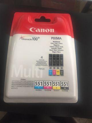 Cartuchos tinta Canon Pixma