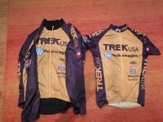 2 maillot mountain bike trek usa volkswagen vintag