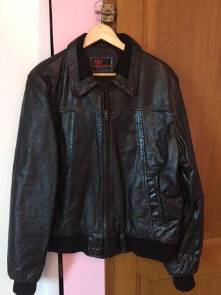 Leather jacket men size L