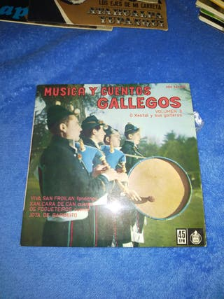 "Disco vinilo single ""Música y cuentos gallego"