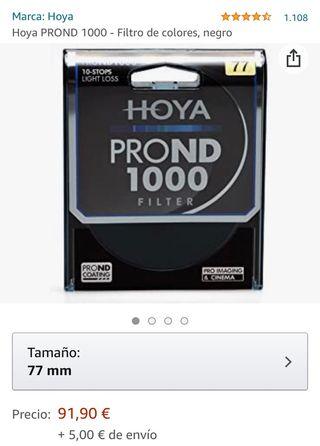 Filtro Hoya Pro ND1000 (Como nuevo)