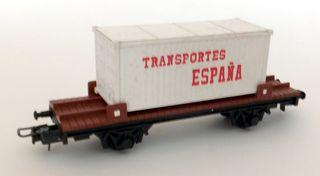 VAGON IBERTREN CONTENEDOR TRANSPORTES ESPAÑA H0
