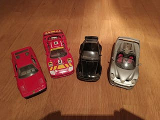 Maquetas 1/24 de Ferrari y Porsche