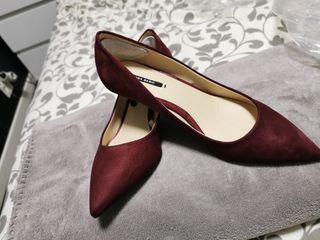 zapatos tacón zara talla 37