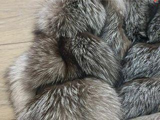 chaqueta zorro plateado 100%natural.