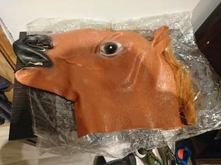 Máscara de caballo nueva