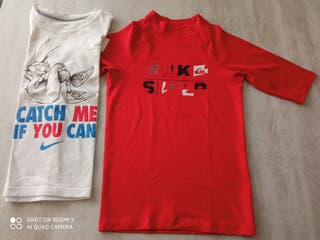 Lote camisetas Nike y Quiksilver