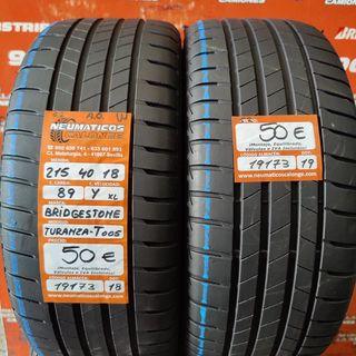 Neumaticos 215 40 18 89Y XL Bridgestone.Ref 19173