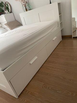 Estructura cama y cabecero Ikea BRIMNES