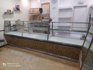 Mostrador panaderia de vidrio