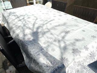 Mantel de lino Zara Home estampado