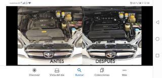 limpieza de motor coche