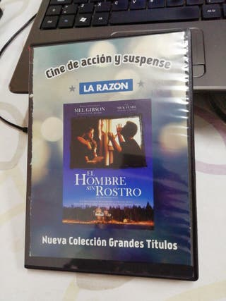El hombre sin rostro. Mel Gibson. Película DVD.