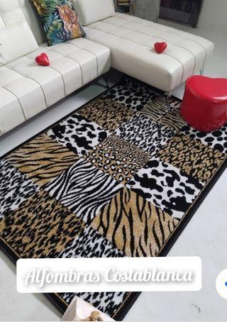 alfombra leopardo vaca cebra tigre cebra