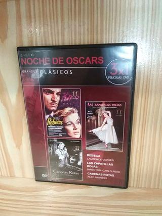 Dvd ciclo noche de los Oscars 3x1 películas