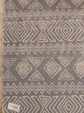 alfombra étnica 120x150 gris azulado
