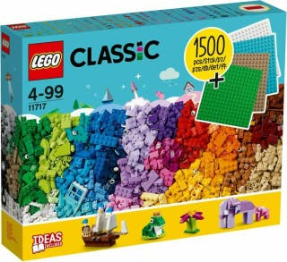 Lego Classic 1500 piezas + 4 bases