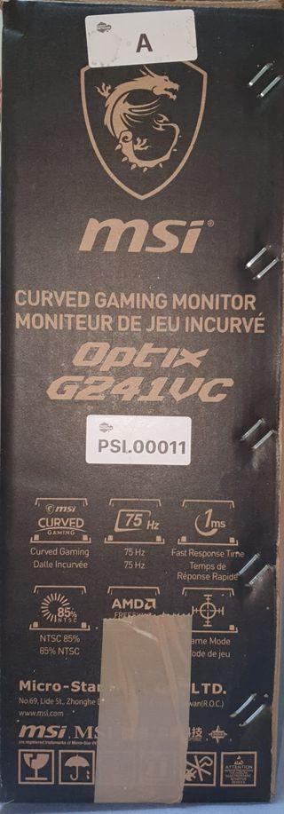 "Monitor Gaming pantalla curva 24"" MSI Optix G241VC"