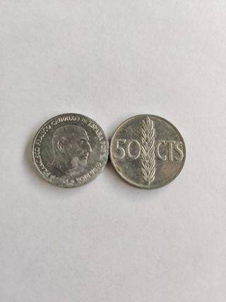 Moneda 50 céntimos (Francisco Franco)