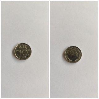 moneda 10 céntimos francesa 1975