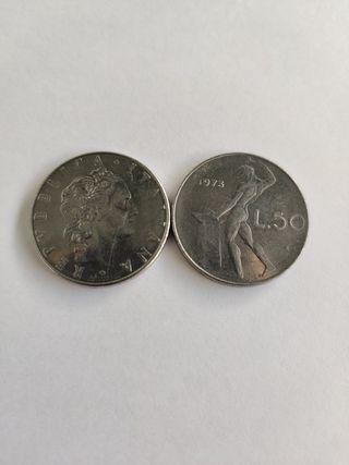 moneda l.50 republica italiana