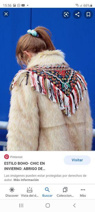 abrigo pelo etnico zara