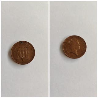 moneda 1 penique