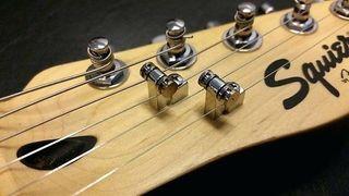 2 Guias cuerdas guitarra, negro o cromado, roller