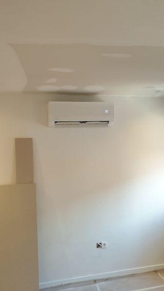 montaje aire acondicionado, por conductos