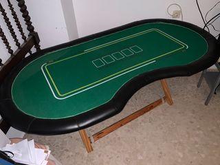 Mesa de póker + juego fichas