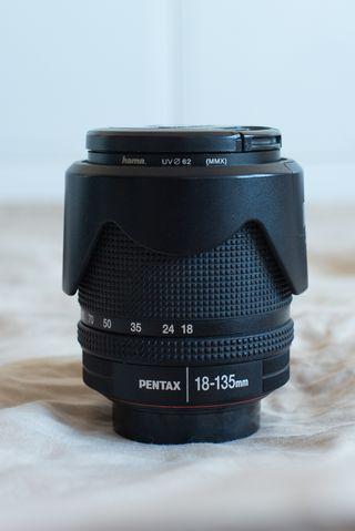 Objetivo Pentax 18-135 mm