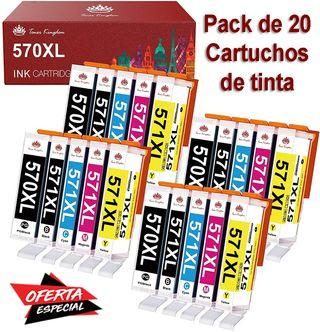 20 CARTUCHOS DE TINTA PARA IMPRESORAS CANON