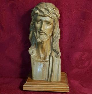 Talla Madera Cabeza Cristo