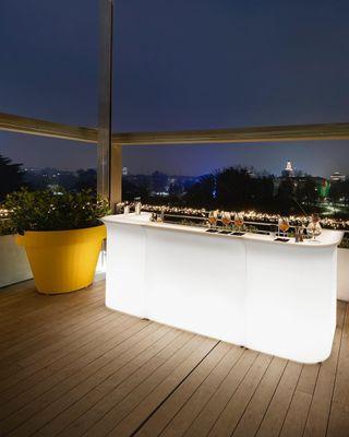 Muebles de terraza con iluminacion rgb