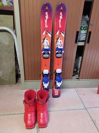 Conjunto esquí niño: esquis + botas
