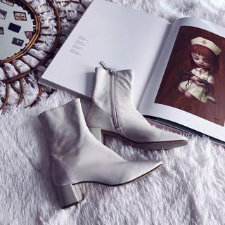 Botines blancos Zara 37