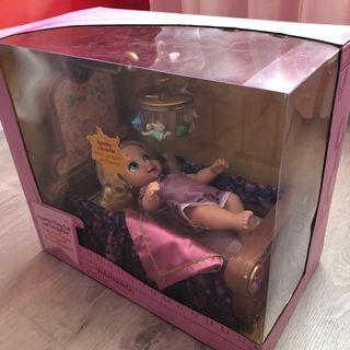Muñeca Rapunzel Bebé con cuna Disney Store