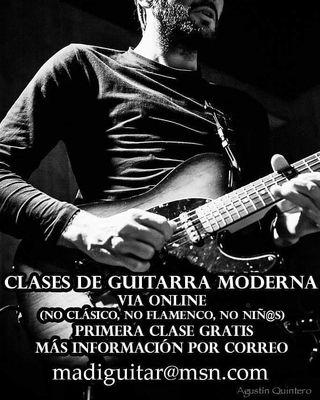 Clases de guitarra moderna