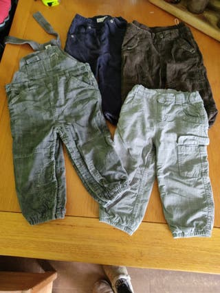 Lote pantalones invierno 80,86,12-18