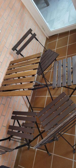 Mesa y silla terraza