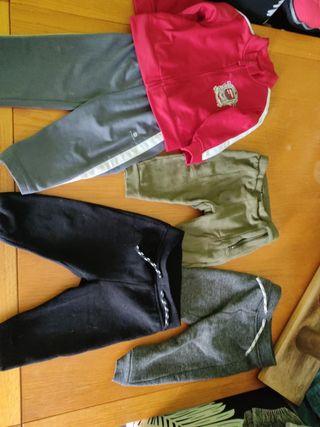 Lote chándal y pantalones deporte 9-12M