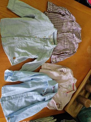 Lote camisas 9-12 y 12-18M