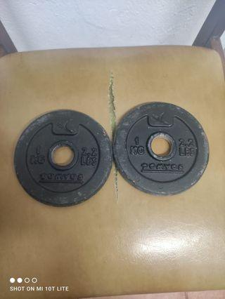 dos discos de 1 k