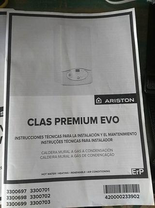 Vendo caldera de gas Ariston Clas premium Evo